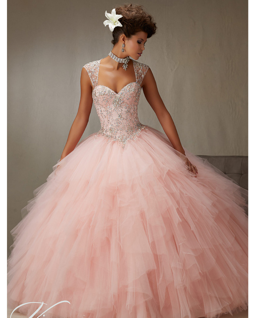 7a52c02c05a Pink Cheap Quinceanera Gowns Debutante Sweet 16 Dresses Bling Beading Baby  Blue Online Ball Gown 15