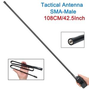 Image 2 - ABBREE 108 CM/42.5 Cal sma male VHF UHF dwuzakresowy 144/430Mhz składana antena taktyczna dla Yaesu TYT Wouxun Walkie Talkie