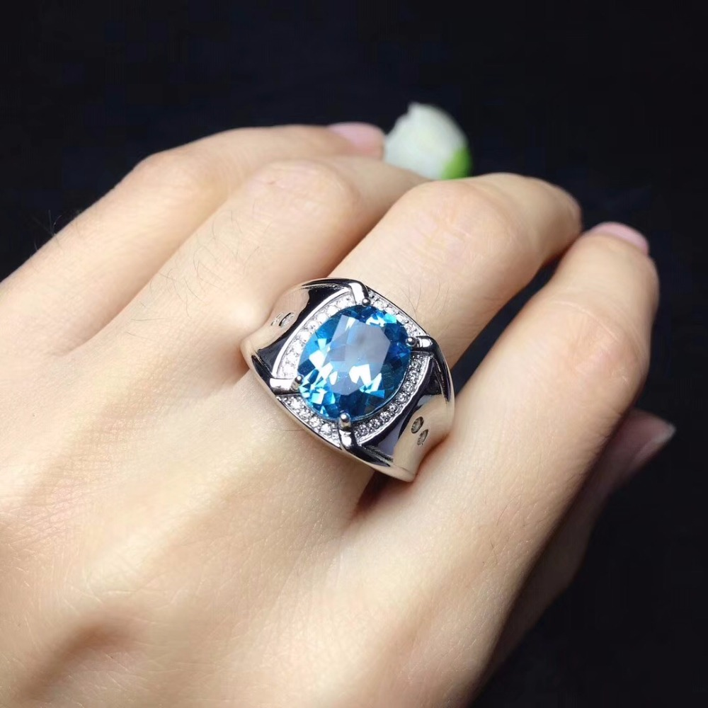 925 Square men's ring, heroic ring, 925 silver, beautiful style, new style