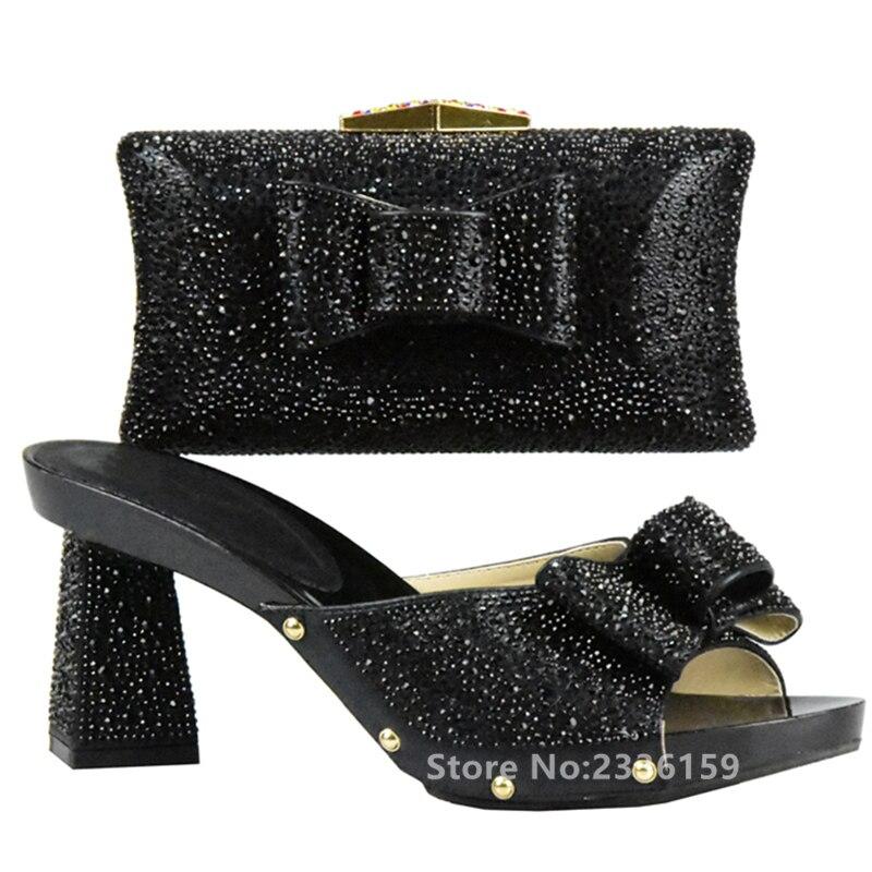 De plata Dorado A Negro oro rojo Con Boda Bolsos verde Italianos Y Mujeres azul Para Africanas Nuevos Bolsa Zapatos Color Juego wp4WRt