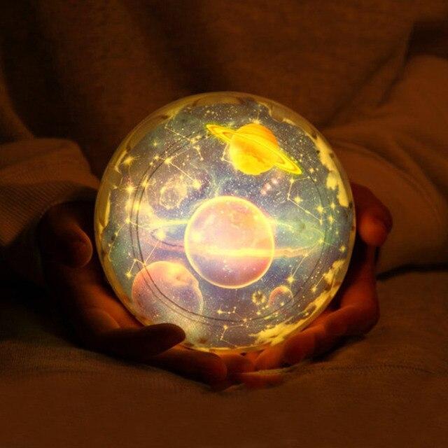 Inteligentny Gwiaździste niebo magiczna gwiazda księżyc planeta obrotowy Galaxy KY54