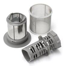 2 части набор сетчатых фильтров для посудомоечной машины серый PP для посудомоечной машины Bosch серии 427903 170740 Замена для посудомоечной машины
