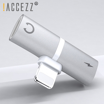 !ACCEZZ 3 in 1 Dual Lighting Charging Listening Calling Adapter For Iphone X XS MAX XR 7 8 Plus Earphone Audio Charger Splitter