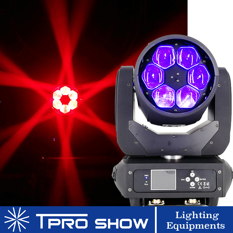 6x40W Moving Head Beam Bee Eye LED Effect RGBW Zoom Lyre Wash Dj Club Light Dmx