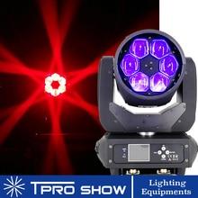 6x40W 움직이는 머리 빔 꿀벌 눈 LED 효과 RGBW 줌 Lyre 워시 Dj 클럽 빛 Dmx 컨트롤 디스코 스테이지 웨딩 파티에 대 한 LED 빔