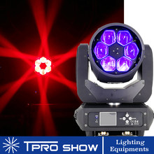 6x40W Moving Head Beam Bee Eye LED Effect RGBW Zoom Lyre Wash Dj Club Light Dmx Control LED Beam for Disco Stage Wedding Party(China)
