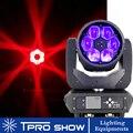 6x40W Moving Head Beam Bee Eye LED Effect RGBW Zoom Lyre Wash Dj Club Light Dmx Control LED Beam for Disco Stage Wedding Party