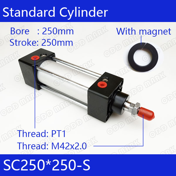 SC250*250-S 250mm Bore 250mm Stroke SC250X250-S SC Series Single Rod Standard Pneumatic Air Cylinder SC250-250-S