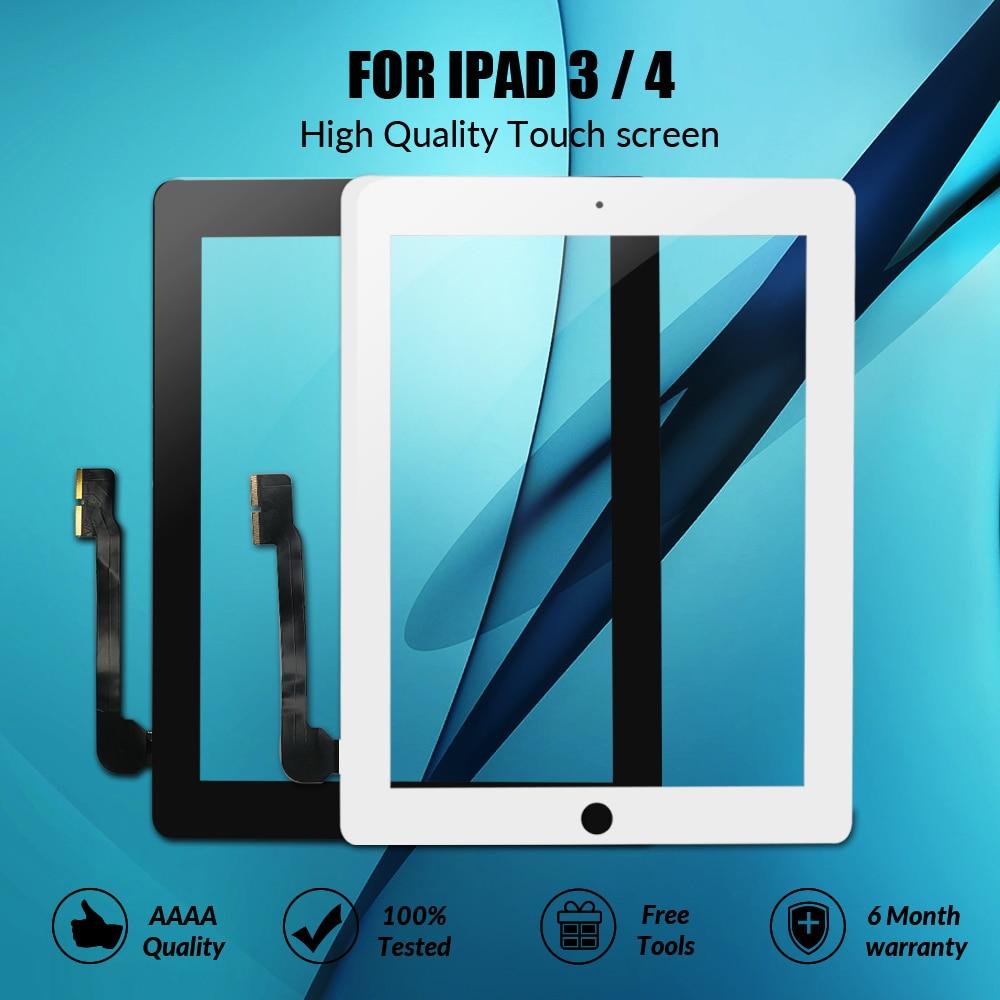 Nova tela de toque para ipad 3 4 ipad3 ipad4 a1416 a1430 a1403 a1458 a1459 a1460 digitador sensor painel vidro com botão casa
