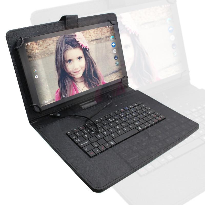 10,1 Pulgadas Tablet Pc Q1198a Rk3128 Quad Core Android 6,0*1024*600 1 Gb + 16 Gb Hdmi Wifi Todo Color Negro + Teclado Funda Tableta