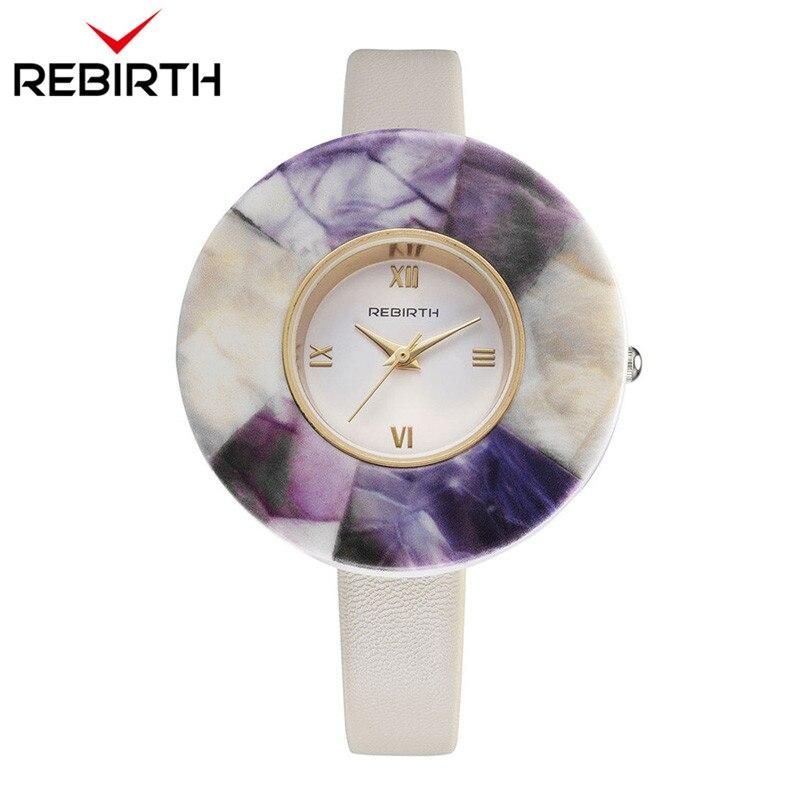0a07d17534c ... as para as Mulheres Marca de Luxo Quartzo com Pulseira Renascimento  Montres Femme Mulheres Moda Casual Senhoras Relógios Top Relógio de Couro  Feminino ...