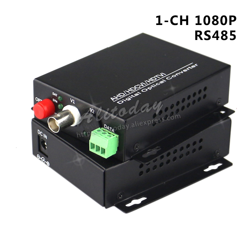 1 Ch 1080 P Faser Optische Konverter Koaxial Hd Video Ahd Cvi Tvi Video Fiber Optic Transmitter Mit Reverse Rs485 Daten