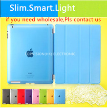 5 support way! High quality! ultra slim magnetic of new ipad case cover for apple 2 3 4 smart cases leather flip thin