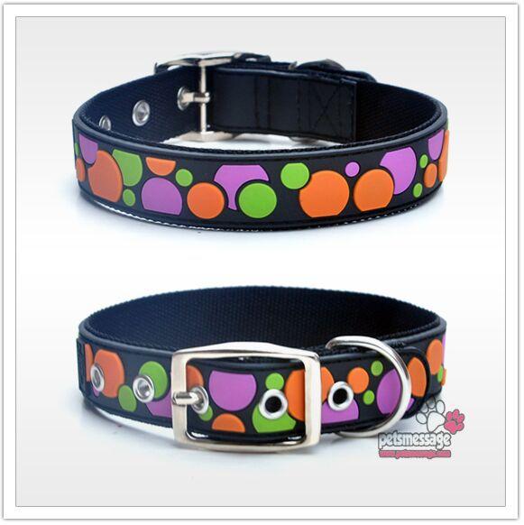 Correa Collar de Perro Productos para Mascotas de Pequeño y Gran Perro Negro Dot