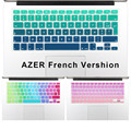 "2016 Gradient Color Silicone French AZERTY Keyboard Cover Skin film For Macbook Pro 13"" 15"" 17"" Air 13""  imac Wireless keyboard"