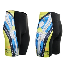 Top selling!! 2017 Men`s Cycling Shorts colorful boys teenager Riding Bicycle Bike Shorts with 3D padded coolmax biker wear