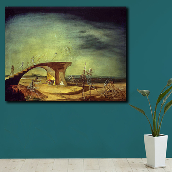Salvador Dali The Broken Bridge and the Dream Canvas Painting For Living Room Home Decor Oil Painting On Canvas Wall Painting 2