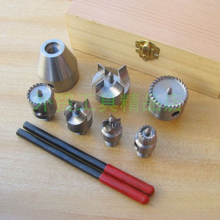 7pcs Lathe Top Set Multifunctional Woodworking Drive High Speed Steel Combination Lathe Center top high speed full teeth piston