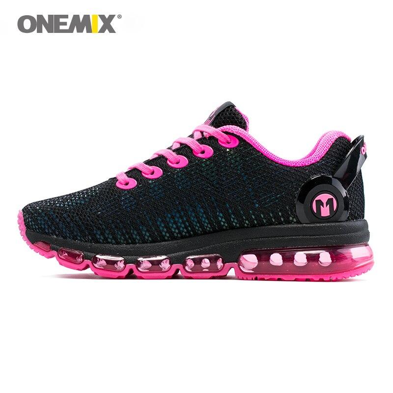 Onemix femmes chaussures de course femmes espadrille léger réfléchissant maille vamp sneaker pour femmes sports de plein air de jogging chaussures de marche