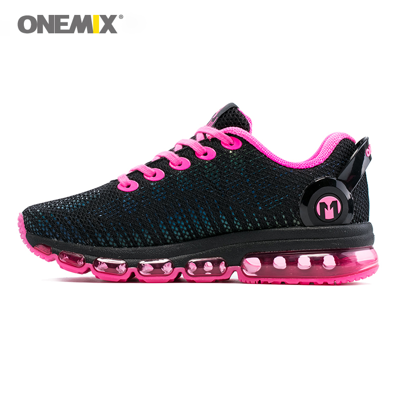 купить Onemix women running shoes women sneaker lightweight reflective mesh vamp sneaker for women outdoor sports jogging walking shoes по цене 4369.52 рублей