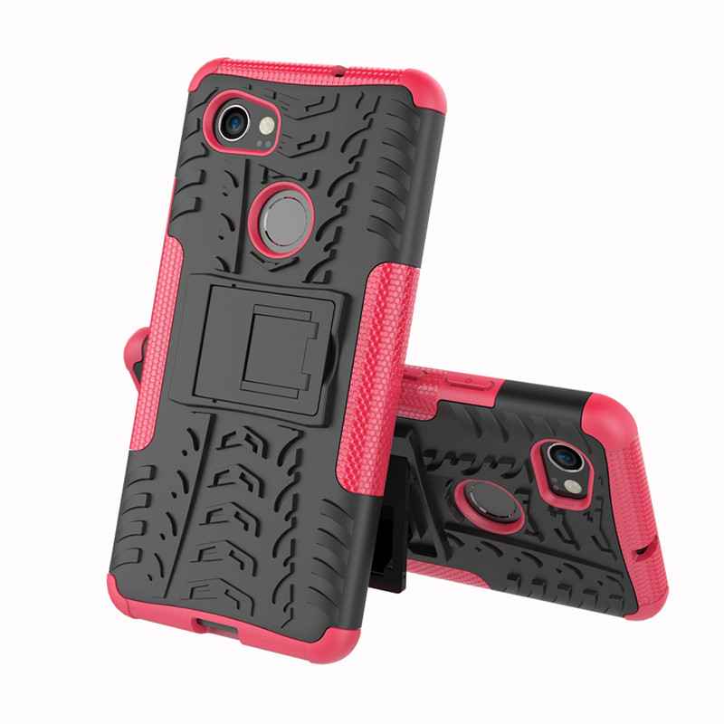 A.Spanice For Google Pixel 2 Armor Heavy Duty Hybrid Stand Case For Google Pixel 2 XL/Pixel2 XL Color Cover Defender