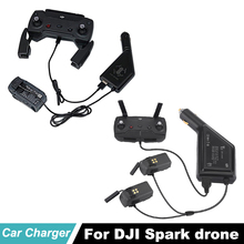 DJI Spark Battery Fast Car Charger and Remote Control Charging Hub Connector USB Adapter for Accessories