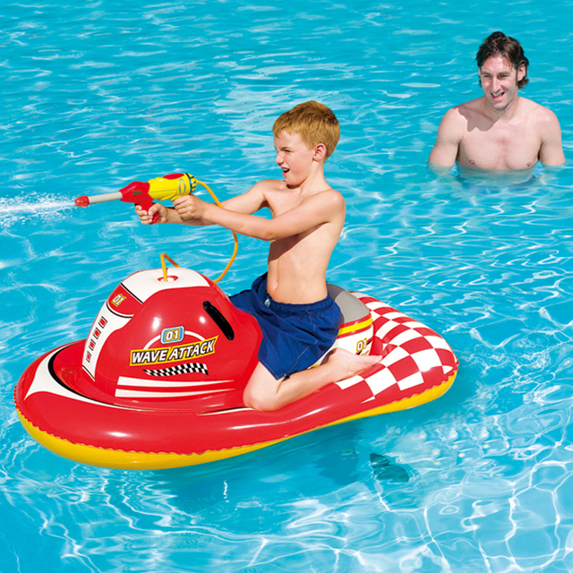 140x84cm Plastic Swimming Pool Toys Motorboat Swim Ring Pools Adult Kids Baby Intex Large Inflatable Animal