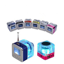 New Fashion Digital Radio Mini Speaker Portable FM Music Support SD/TF card MP3 Player with LCD Display