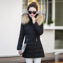 2016 зимние женщин пуховик в длинной части 20-30-year-old Корейской моды Тонкий волос воротник воротник теплая одежда