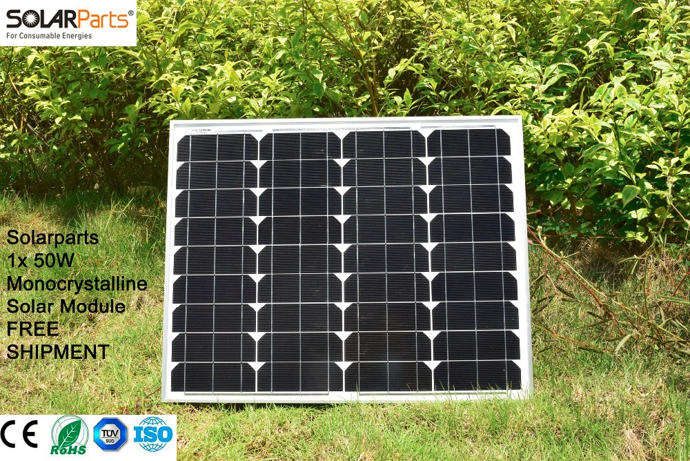 Solarparts 1x 50W Monocrystalline Solar Module by Mono solar cell factory cheap selling 12V solar panel for RV/Marine/Boat use . solarparts 2x 50w polycrystalline solar module by poly solar cell factory cheap selling 12v solar panel for rv marine boat use