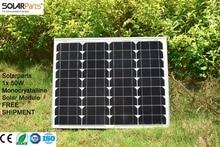 Solarparts 1x 50W Monocrystalline Solar Module by Mono solar cell factory cheap selling 12V solar panel