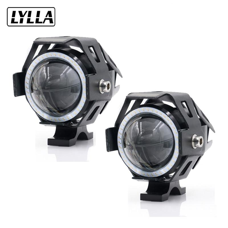 2PCS LYLLA 12V 125W Motocicletă U7 Faruri LED 3000LM a condus DRL - Accesorii si piese pentru motociclete