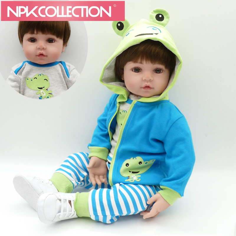 "24"" 60cm New Popular Adora Cotton Body Lifelike Newborn Baby Boy With Pretty Clothes Children Gift Silicone Reborn Baby Dolls"