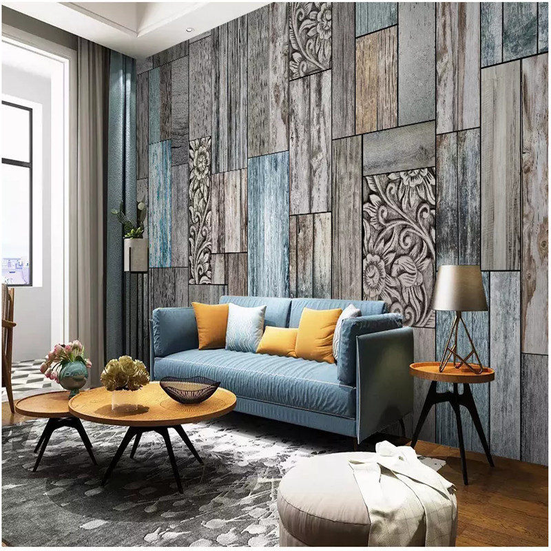 Textured Wallpaper Nordic Vintage Wood Plank Wall Decor Mural Wallpapers For Living Room Bedroom Walls 3D Wall Papers Home Decor
