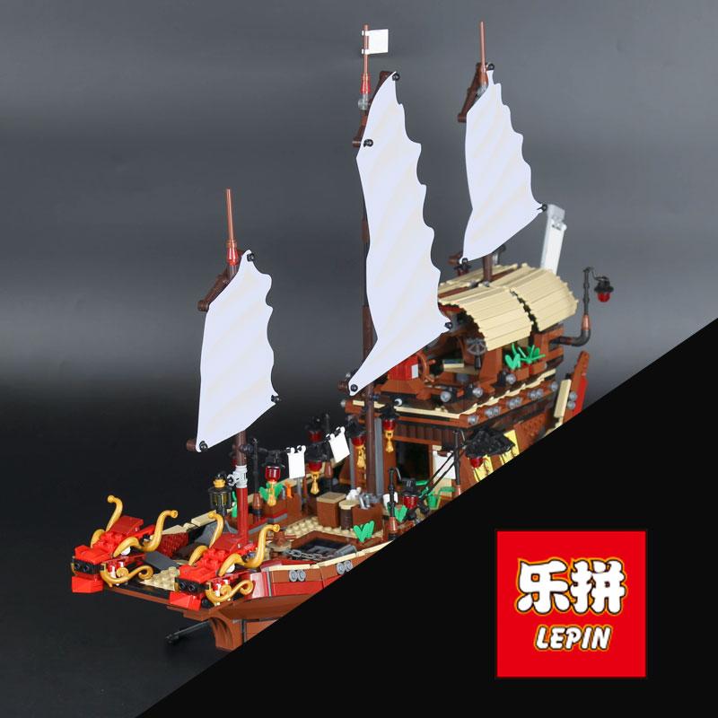 все цены на Lepin 06057 Genuine 2345Pcs Ship Series The Destiny`s Bounty Set Building Blocks Bricks legoINGlys Birthday Gift 70618 boys онлайн