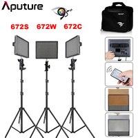 Aputure Amaran HR672W HR672C HR672S CRI95 + светодиодные лампы для видеосъемки w/2.4g беспроводной пульт дистанционного управления Управление Свет Стенд 6x NP F970 Б