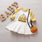Spring baby girls clothes outfits sports long sleeve costume for newborn baby clothing dresses first birthday girls party dress