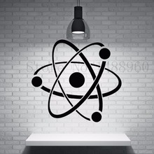 E646 Wall Stickers Vinyl DIY home decor Art Poster Vinyl Mural Nursery Molecule Chemistry Symbol Structure Core Science Atom