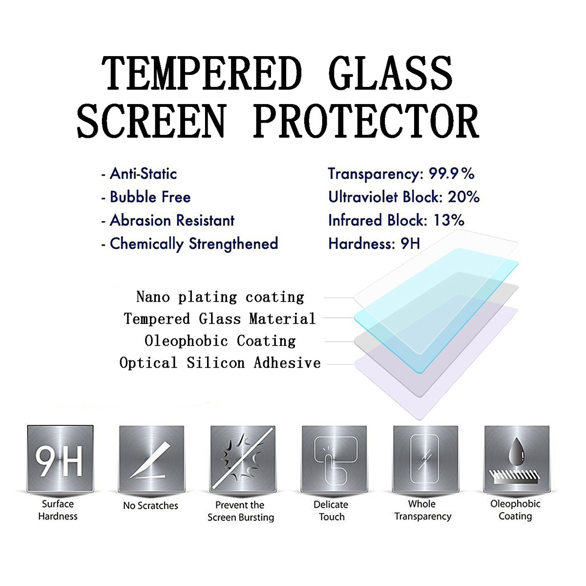 Tempered glass 9H HD Protector For Motorola Droid RAZR E3 M Moto G4 Play Plus Z Force X Style Play Force G3 G2 E2 Screen Case