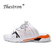 2019 New Lovers Flip Flops Platform Soft Bottom Flat Breathable Shoe Summer Beach Male Slippers Big Size Indoor Casual Slippers