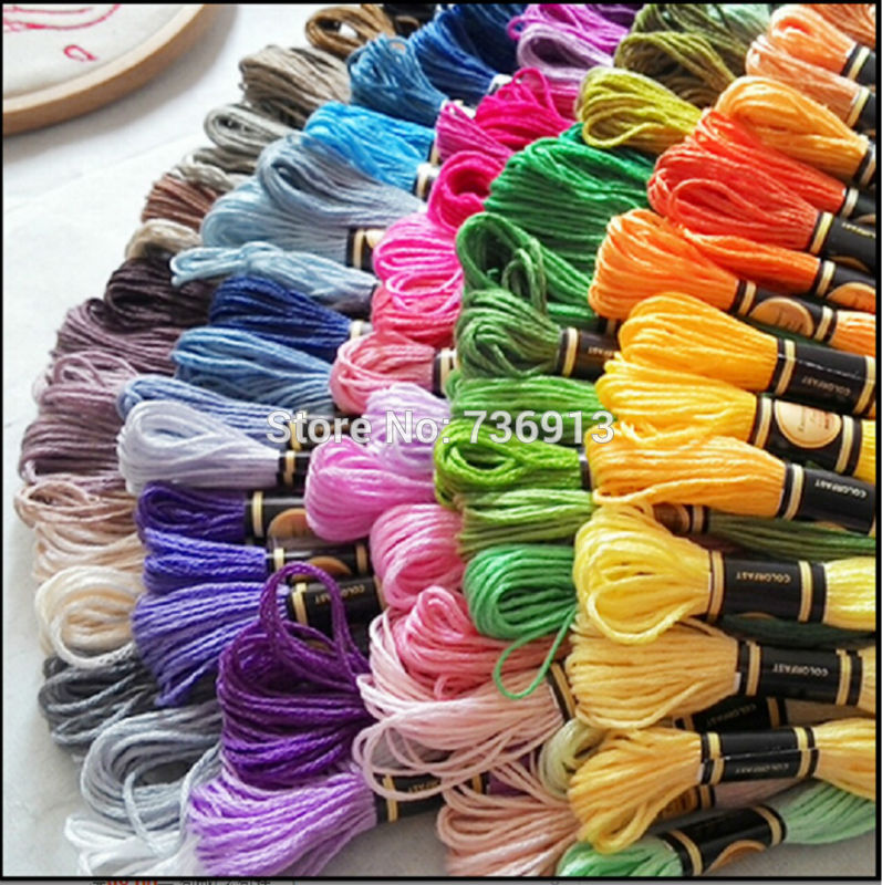 8 7Yard pcs Choose Any colors Or 6 Full sets Total 2682 Pieces Embroidery Thread Yarn