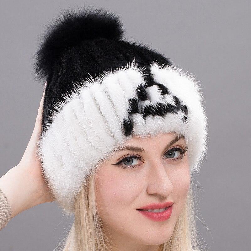 JKP brand women's 2018 winter new letter straw hat fox fur ball baotou hat fur hat female DHHY17-18
