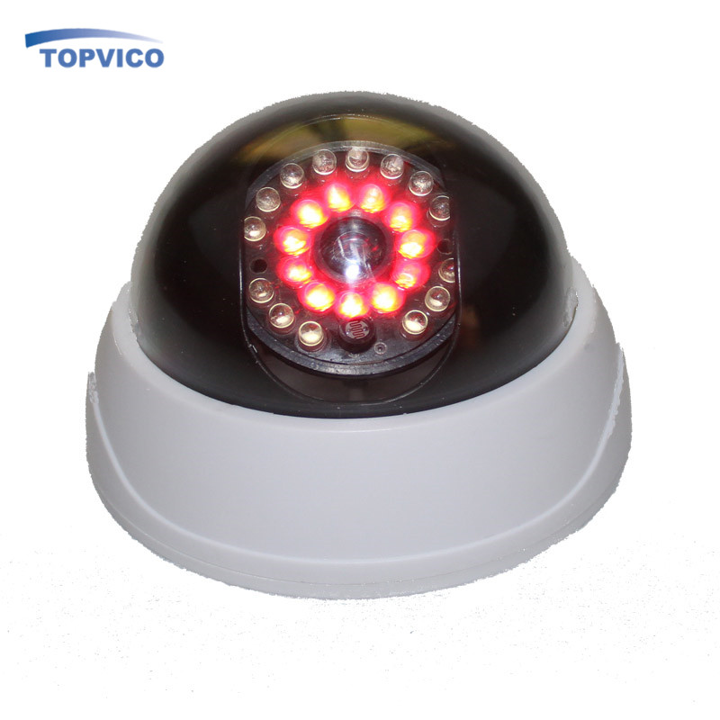 Fake Camera AA Battery for LED Dummy House Home Security Surveillance Camera Indoor CCTV Dome Camera topvico 2pcs dummy cctv camera aa battery for flash blinking led fake house safety home security camera dome surveillance camera