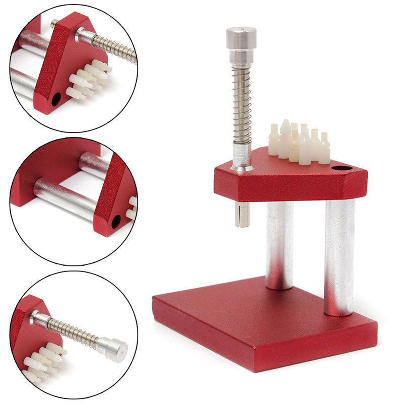 1Pc Practial Red Watch Repair Fitting Tools Hand Presto Presser And Lifter Puller Plunger Remover Set Watch Presses watch repair tool kit watch tools 9 5cm 4 5cm pins puller watchmaker tools watch hand remover tool parts accessories