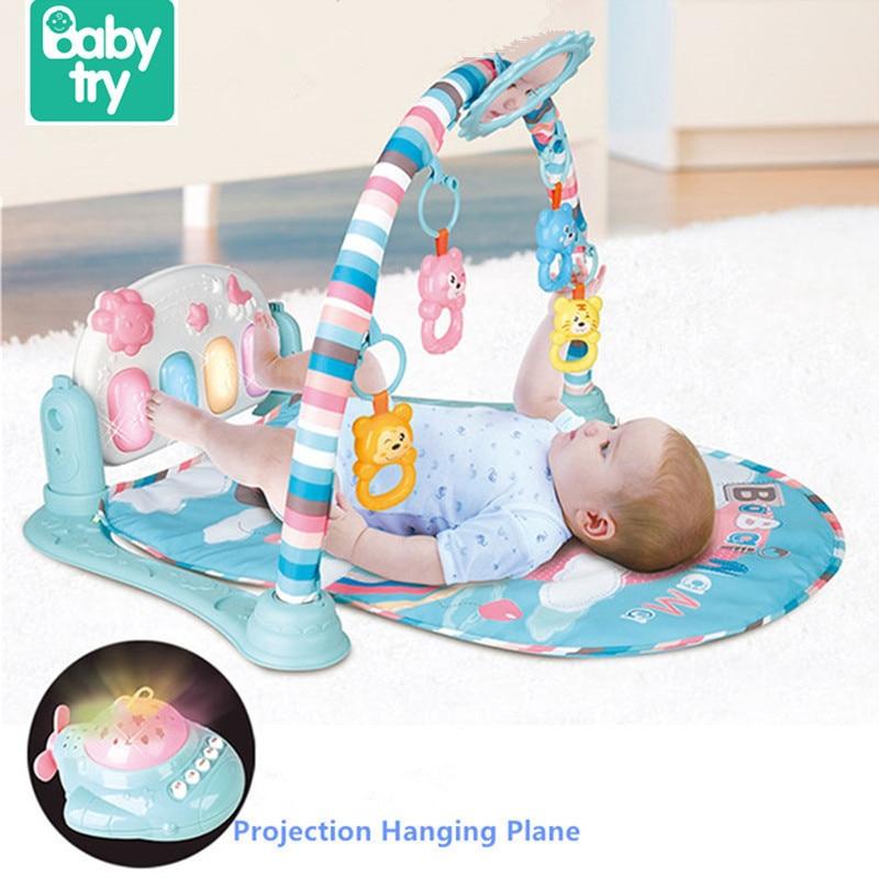 Babytry jouets éducatifs multifonction doux musique cloche Gym Piano Fitness cadre bébé jouer tapis pour bébé enfant en bas âge ramper développer