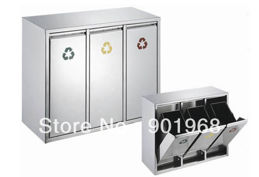Kitchen Trash Can Wall Mounted Stainless Steel Contemporary