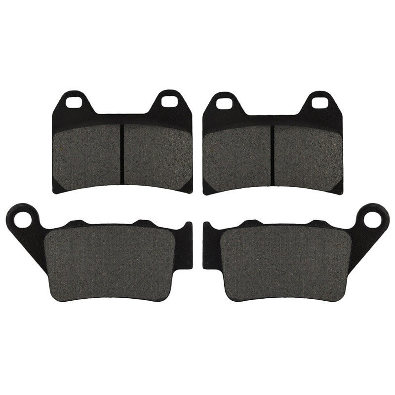 Motorcycle Front And Rear Brake Pads For BMW G650 G 650 X Moto 2007-2008 Black Brake Pads
