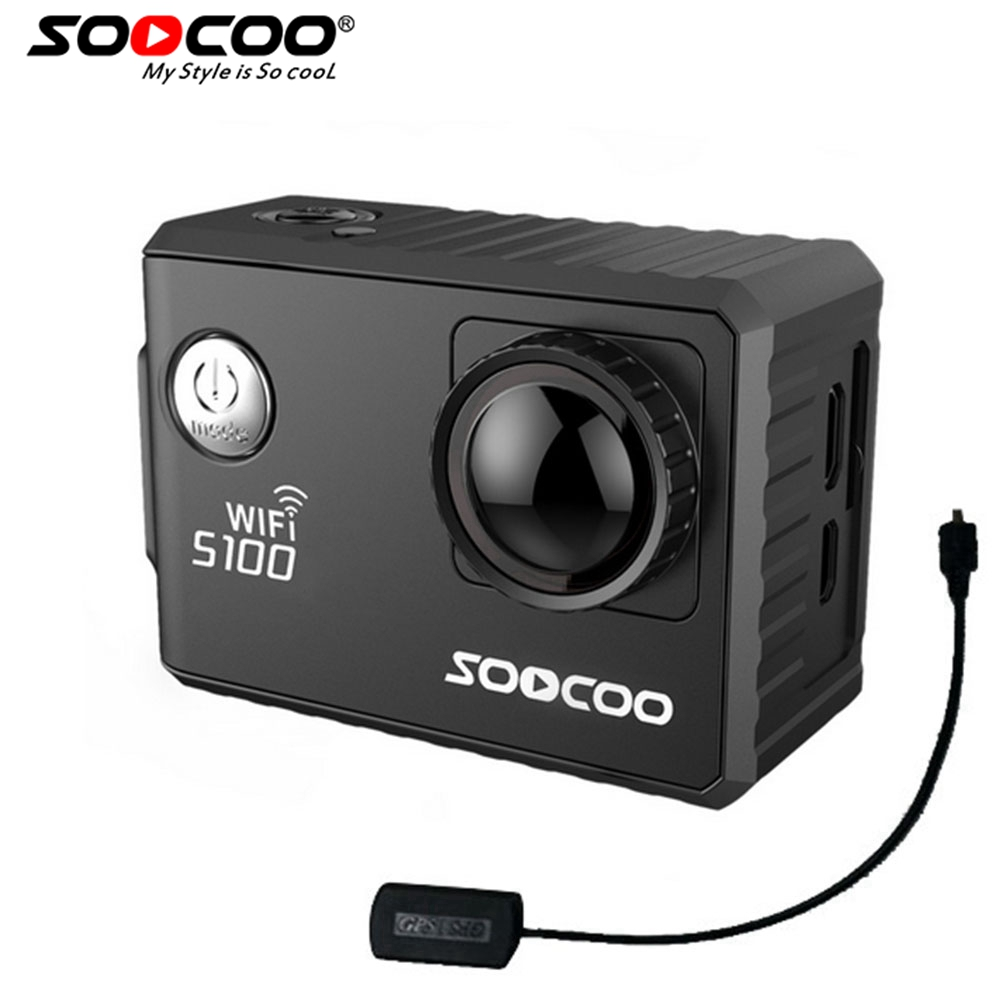 SOOCOO S100 4K Sports Action Camera Ultra HD 1080FHD Wifi Built-in Gyro with GPS Extension Model Action Cam