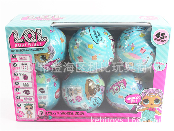 6pc/lot 3-inch water spray lol Surprise Doll Magic Funny Removable Egg Ball Doll Toy Educational Novelty Kids Unpacking inflatable water spoon outdoor game water ball summer water spray beach ball lawn playing ball children s toy ball