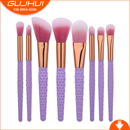 8 Makeup Brushes, Make-up Tools, Suits, Honeycomb Pearls, White Powder, Hair Brush, GUJHUI Charm 5 makeup brushes mermaid makeup brushes make up tools suit sets brush makeup gujhui rhyme color
